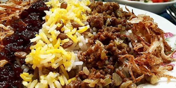 طرز تهیه عدس پلو با مرغ و سویا , دستور پخت عدس پلو با پلو پز با خرما و گوشت قلقلی
