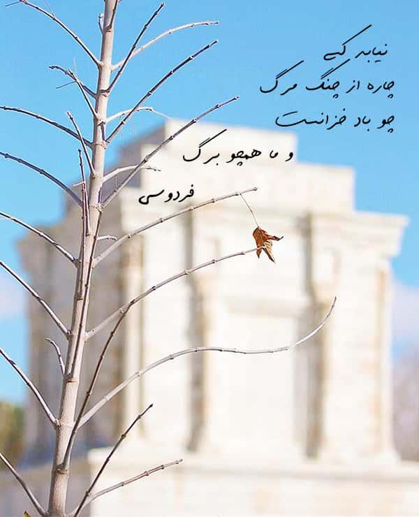 اشعار حماسی فردوسی , اشعار فردوسی در مورد ایران , اشعار فردوسی در مورد مرگ