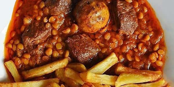 طرز تهیه خورش قیمه نذری با گوشت , دستور پخت خورشت قیمه مجلسی جواد جوادی , xvc jidi o va rdli