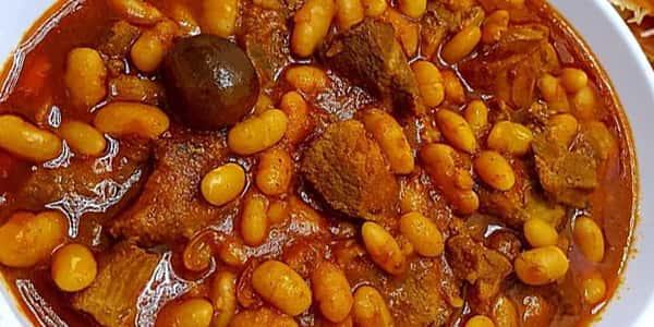طرز تهیه خورش لوبیا سفید ارومیه با مرغ , دستور پخت خورشت لوبیا سفید ترکی , xvc jidi o va g fdh stdn