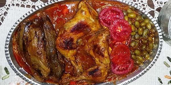 طرز تهیه خورش غوره مسما با مرغ و گوشت , دستور پخت خورش غوره مسما با بادمجان شمالی