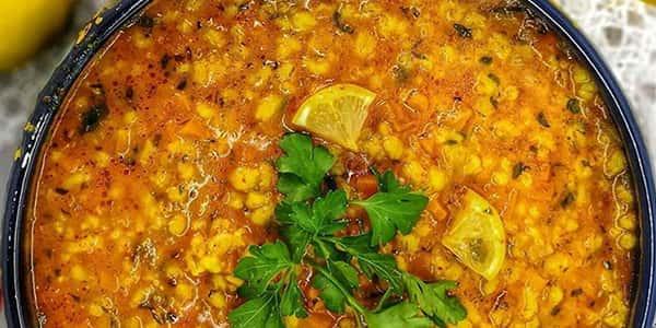 طرز تهیه سوپ جو قرمز با قارچ بدون شیر , دستور پخت سوپ جو رستورانی