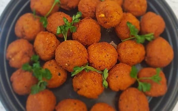 طرز تهیه فلافل مغازه رستورانی خاص خیابانی آبادانی خوشمزه با سیب زمینی خوزستانی کنجدی
