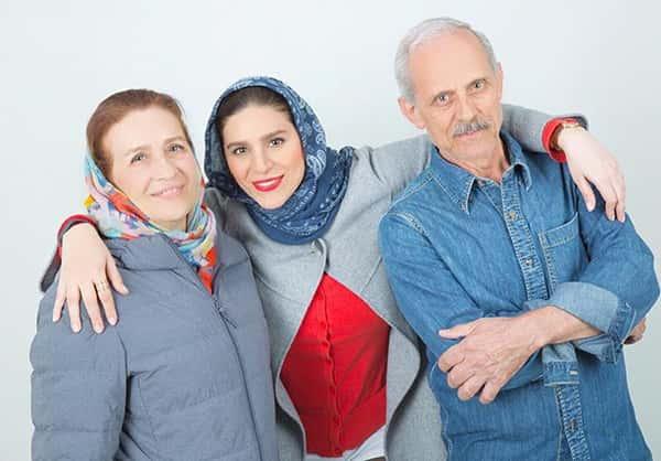 عکس سحر دولتشاهی و پدر و مادرش , تصویر سحر دولتشاهی در کنار بابا و مامانش