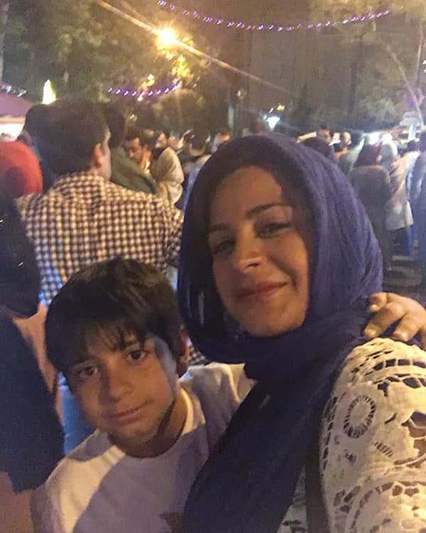 عکس سیما تیرانداز و پسرش , سیما تیرانداز و فرزندش , رایان هاشمی جوزانی پسر سیما تیرانداز