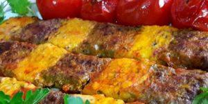 طرز تهیه کباب کوبیده دو رنگ
