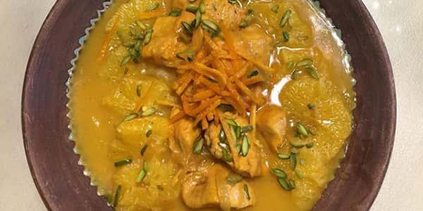 طرز تهیه خورش پرتقال با گوشت و مرغ , دستور پخت خورشت پرتقال با آب پرتقال , xvc jidi o va vjrhg