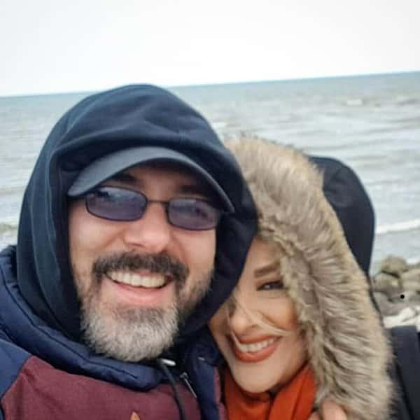 عکس کوروش تهامی و همسرش , کوروش تهامی و زنش , پونه یزدانی همسر کوروش تهامی