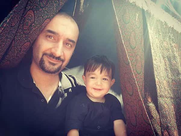 عکس نیما کرمی و پسرش , نیما کرمی و فرزندش , محمد کیا مهر کرمی پسر نیما کرمی