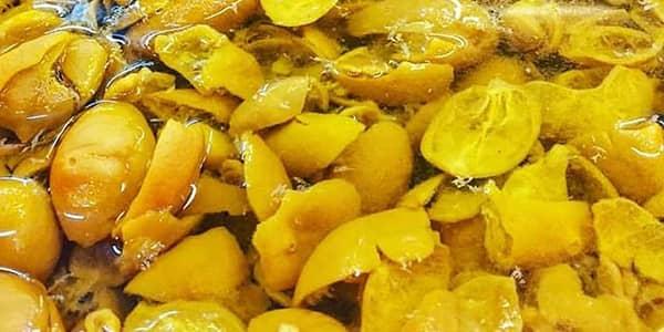 آموزش دستور تهیه و طرز تهیه ترشی پوست لیمو ترش سبز بندری با عکس